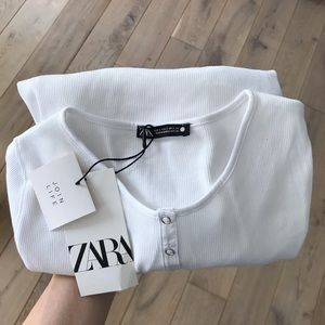 Zara Ribbed Snap Button Shirt